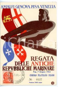 1964 PISA Regata delle Antiche Repubbliche Marinare *Cartolina con timbro FDC
