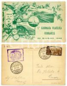 1948 1^ GIORNATA FILATELICA FERRARESE Bersaglieri del Po - Cornuda *Timbro FDC