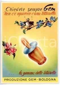 1950 ca BOLOGNA - GEM La gemma delle tettarelle *Cartolina ILLUSTRATA VINTAGE FP