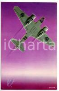 1940 ca MILANO Aeroplano CAPRONI 3/2 BIS *Cartolina pubblicitaria VINTAGE FG NV
