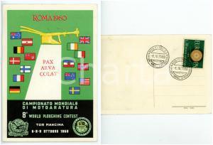 1960 TOR MANCINA (RM) 8° Campionato mondiale motoaratura *Cartolina ILLUSTRATA