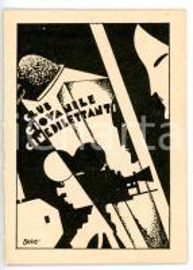 1930 ca ROMA Club giovanile cinedilettanti - Tessera VINTAGE 8x11 cm