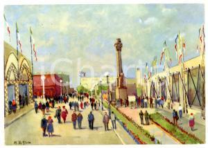 1955 ca BARI - FIERA DEL LEVANTE Viale Italo-Orientale *Cartolina ILLUSTRATA FG