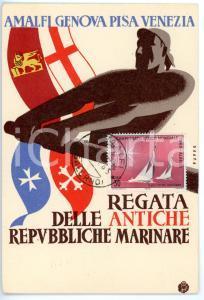 1965 PISA Regata delle Antiche Repubbliche Marinare *Cartolina VINTAGE - FG