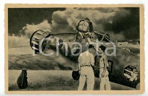 1945 ca AVIAZIONE MILITARE ITALIANA Partenza monoplano da caccia *Cartolina FG