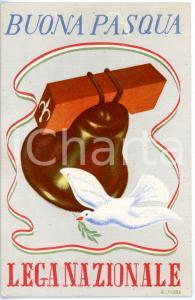 1950 ca TRIESTE Buona Pasqua LEGA NAZIONALE *Cartolina ILLUSTRATA da E. NOIRE