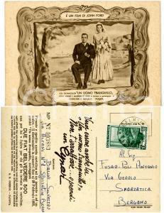 1953 THE QUIET MAN Matrimonio John WAYNE e Maureen O'HARA *Pubblicitaria CYNAR
