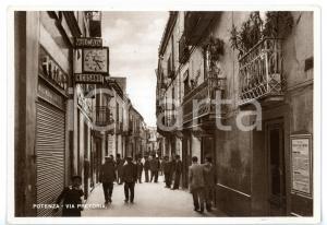 1950 ca POTENZA Via Pretoria - Scorcio caratteristico *Cartolina ANIMATA FG NV