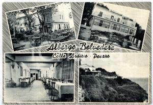 1950 ca PESARO Colle ARDIZIO - Vedutine albergo BELVEDERE *Cartolina VINTAGE FG