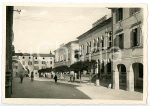 1950 ca PORTOGRUARO (VE) Via Vittorio Emanuele - Scuola elementare *Cartolina FG