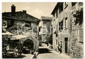 1950 ca CASTAGNETO CARDUCCI - BOLGHERI (LI) Via Giulia *Cartolina ANIMATA - FG