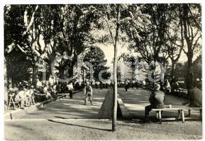 1961 FIUGGI FONTE (FR) Fonte nuova - Villeggianti giocano a bocce *Cartolina FG