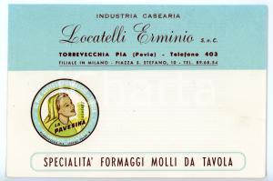 1966 TORREVECCHIA PIA (PA) Caseificio Erminio LOCATELLI *Biglietto ILLUSTRATO