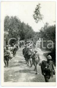 1920 ca ITALIA REGIO ESERCITO Colonne di fanteria in marcia *Fotocartolina FP NV