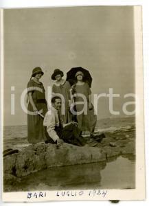 1924 BARI Ritratto di famiglia al mare *Cartolina VINTAGE - FP NV