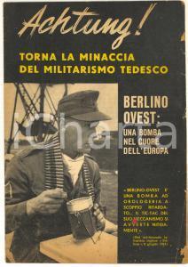 1961 GUERRA FREDDA Berlino Ovest bomba per l'Europa *Opuscolo PROPAGANDA PCI