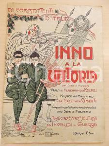 1920 ca Ferdinando MERLI - Archimede CIMATTI Inno a la Vittoria *Spartito