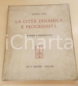 1964 Antonio LATINI La città dinamica e progressiva - SOLO SCHEMI E DIAPOSITIVE