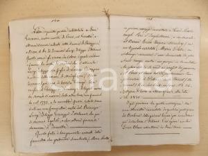 1850 ca ANONIMO Quaderno manoscritto - Poesie di Giuseppe GIUSTI 192 pp.