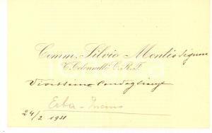 1931 ERBA Comm. Silvio MONTI Ten. Colonnello C.R.F. - Biglietto da visita