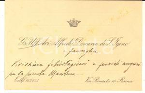 1930 ca ROMA Alfredo DOMINE DI S. IGINO - Biglietto da visita autografo