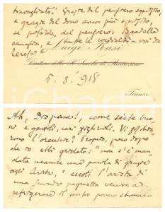 1918 FIRENZE Luigi RASI attore e drammaturgo - Biglietto AUTOGRAFO