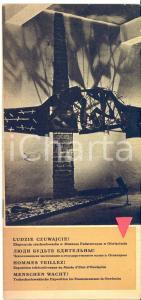 1960 ca OSWIECIM (POLONIA) Mostra sulla guerra in Cecoslovacchia *Pieghevole