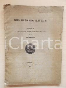 1890 M. KERBAKER Saturno-Savitar e la leggenda dell'Età dell'Oro *DANNEGGIATO