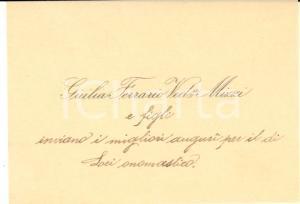 1930 ca Area di LECCO - Giulia FERRARIO vedova MIZZI - Biglietto da visita