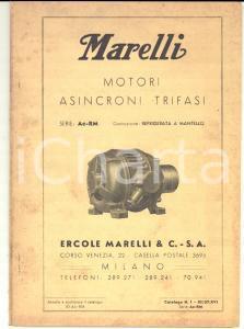 1937 MILANO Ditta Ercole MARELLI - Motori asincroni trifasi *Catalogo
