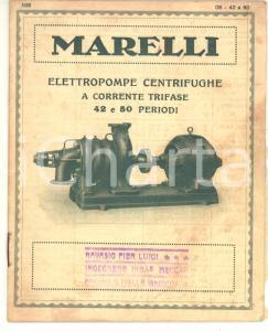 1928 MILANO Ditta Ercole MARELLI - Catalogo elettropompe centrifughe 23 pp.