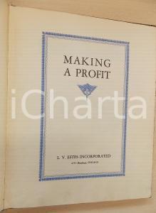 1930 ca AA.VV. Making a profit *VOLUME RARO L. V. Estes Incorporated 44 pp.