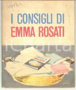 1950 ca LEVER GIBBS Detersivo OMO PIU' - I consigli di Emma Rosati *62 pp.