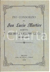 1918 MILANO Pio Consorzio S. Lucio Martire nella chiesa S. Bernardino alle Ossa