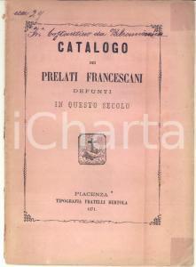 1871 Fr. Costantino da VALCAMONICA Catalogo dei prelati francescani defunti
