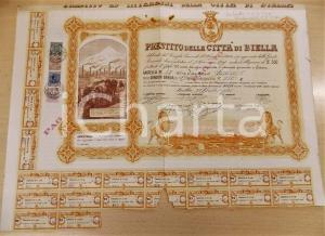 1921 CITTA' DI BIELLA Prestito obbligazionario - Certificato con cedole