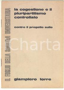 1969 Giampiero TORRE La cogestione e il pluripartitismo controllato - 16 pp.