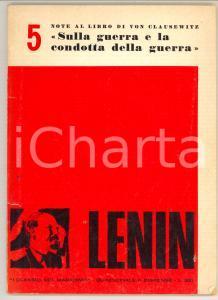 1970 LENIN Note al libro di Von Clausewitz: