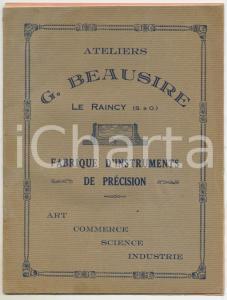 1910 ca LE RAINCY (F) Atelier BEAUSIRE Instruments de précision *Catalogue 12 p.