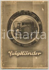 1930 ca FOTOGRAFIA Apparecchi VOIGTLANDER - Catalogo ILLUSTRATO RARO 44 pp.