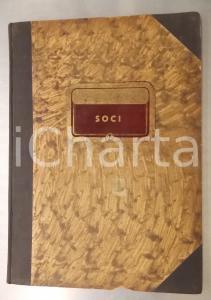 1946-1955 MILANO Bar CAVOUR - Libro soci - VINTAGE 25x35 cm