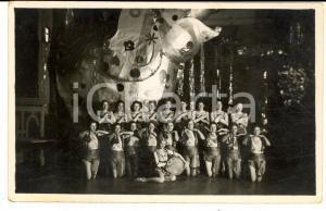 1936 TEATRO GERMANIA Donne a un balletto di Carnevale - Foto cartolina RARA