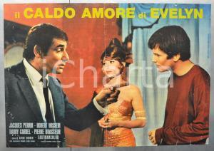 1968 IL CALDO AMORE DI EVELYN Jacques PERRIN Robert HOSSEIN Fotobusta 66x46 cm