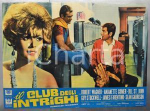 1967 IL CLUB DEGLI INTRIGHI Robert WAGNER Anjanette COMER Fotobusta 66x46 cm