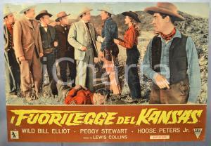1952 IL FUORILEGGE DEL KANSAS Wild Bill ELLIOT Peggy STEWART Fotobusta 66x46 (1)