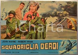1951 SQUADRIGLIA D'EROI - DIAVOLI ALATI John WAYNE Robert RYAN Fotobusta 66x46cm