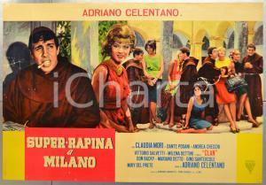 1964 SUPER RAPINA A MILANO Adriano CELENTANO - Fotobusta DANNEGGIATA 66x46 cm