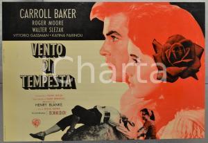 1959 VENTO DI TEMPESTA - THE MIRACLE Carroll BAKER Roger MOORE - Fotobusta 66x46 cm