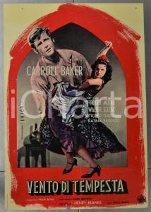 1959 VENTO DI TEMPESTA - THE MIRACLE Carroll BAKER Roger MOORE Manifesto 46x66cm