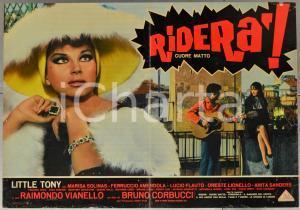 1967 RIDERÀ - CUORE MATTO Little Tony - Marisa SOLINAS - Fotobusta 66x46 cm